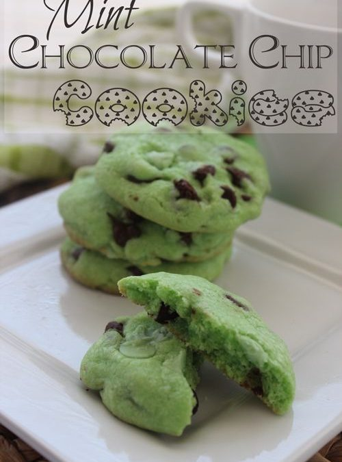 St. Patrick's Day Mint Chocolate Chip Cookies!
