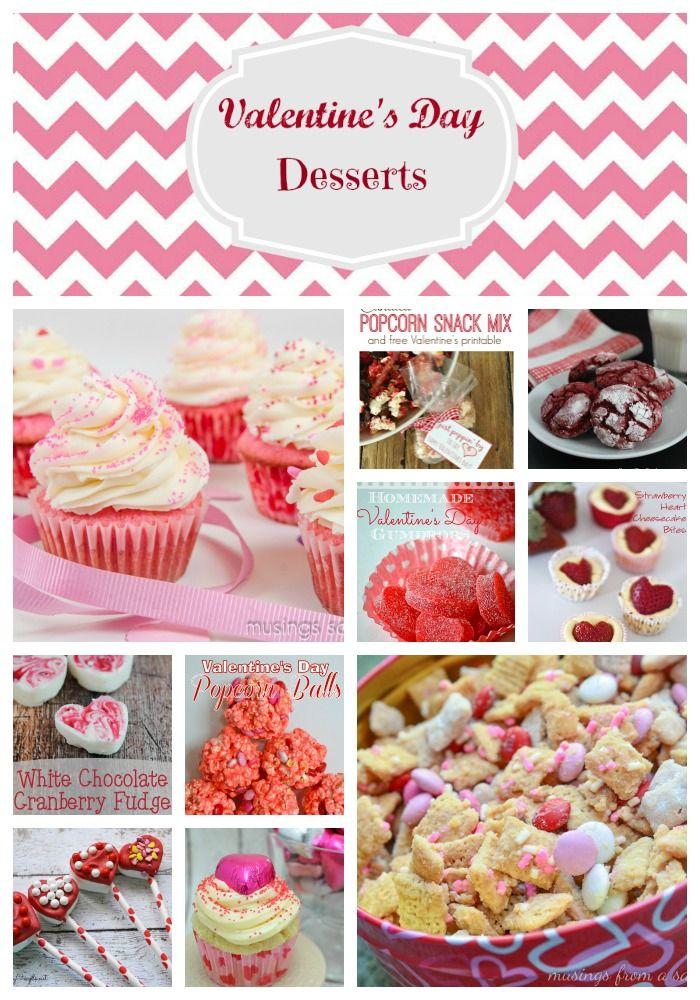 Valentine's Day Desserts Collage
