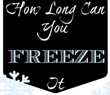 March is Frozen Food Month! So, Just How Long Can You Freeze It? {FREE Printable Download}