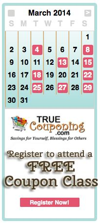 March 2014 Coupon Classes