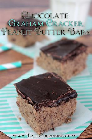 Chocolate Graham Cracker Peanut Butter Bars Recipe