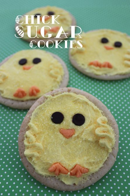 QUICK & EASY Easter Chick Sugar Cookies