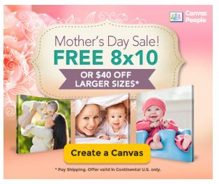 FREE Photo Canvas or $40 Off ~ Just Pay Shipping & Handling