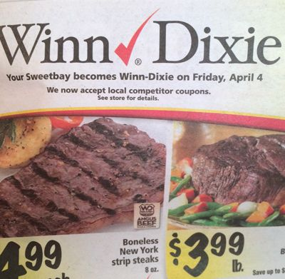 Winn Dixie Stores Now Accepting Competitor Coupons (FL Only)