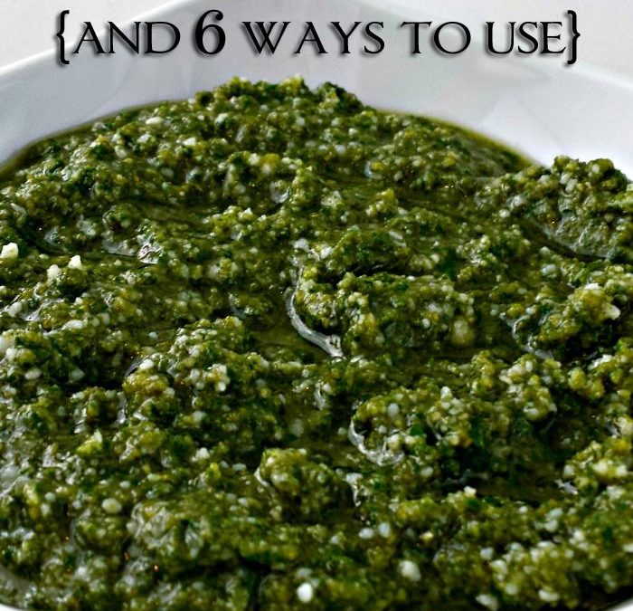 Just FIVE Ingredients and Presto…I Mean PESTO!