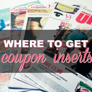 Where Can I Get Coupon Inserts?