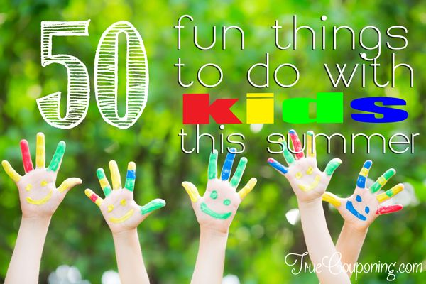 50 Fun Things To Do With Kids This Summer (AKA The Boredom Buster Game)