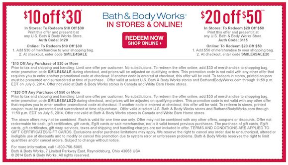 Like Bath & Body Works coupons? Try these...