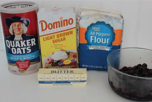 Easy Blueberry Crisp Ingredients 6-18