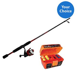 Father 39 s day gift idea fishing rod reel and tackle box for Fishing lures at walmart