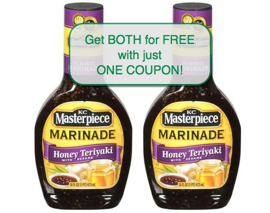 Hot Deal Shown Today on Fox! {Two FREE KC Masterpiece Marinade 16 oz!}