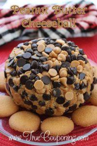 The Best Peanut Butter & Chocolate Cheeseball Recipe EVER.