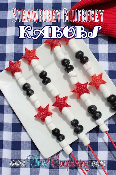 Strawberry Blueberry Kabobs Recipe