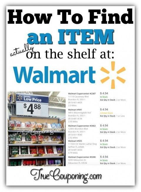 How To Find An Item At Walmart