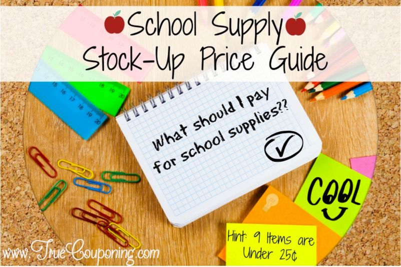 What SHOULD You Pay For School Supplies? {FREE Downloadable List}