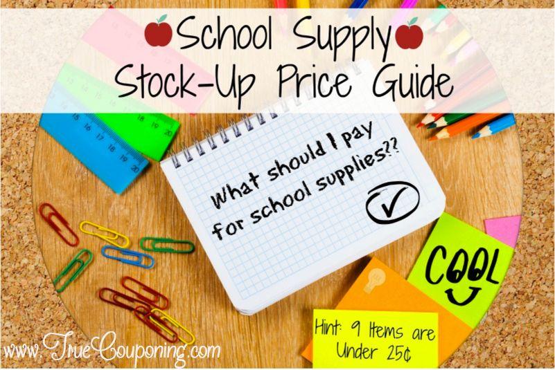School Supply Pinterest