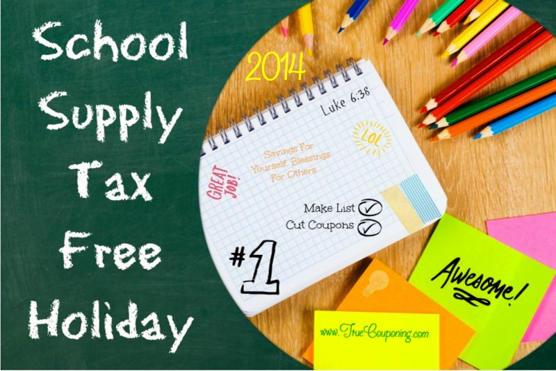 2014 Back To School Sales Tax FREE Shopping THIS Weekend!