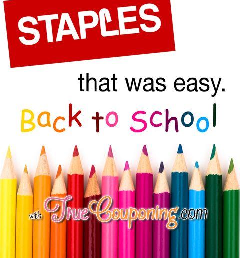 Staples Back To School Deals 8/3 – 8/9