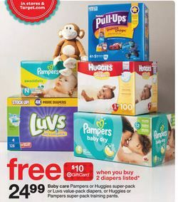 Target: Super Pack Diaper Deals (Pull-Ups Only $11.90 & Pampers Only $12.23!) ~ Starts Today!