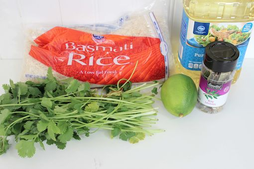 Chipotle Lime Rice Ingredients