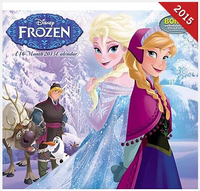 TODAY ONLY! Save 50% on Disney Frozen 2015 Wall Calendar!
