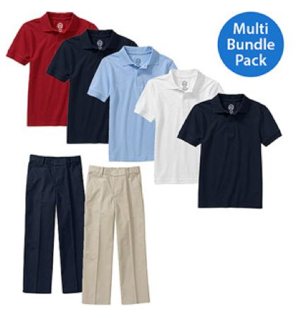 Back to School at Walmart ~ Kids Uniform Bundle 7 pcs for $41.97!