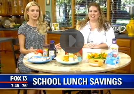 Fox 13 Savings Segment ~ Learn How To Make Cheap & Easy School Lunches!