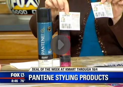 Hot Deal Shown Today on Fox! {Pantene Styling Products Only 50¢ After Kmart Double Coupons!}