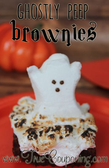 Ghostly Peep Brownies Recipe