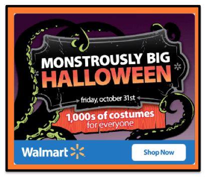 Monstrously BIG Savings for Halloween at Walmart!