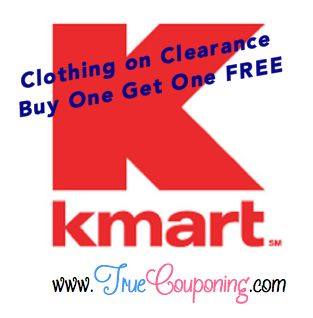 Kmart Clothing on Clearance ~ Buy One Get One FREE