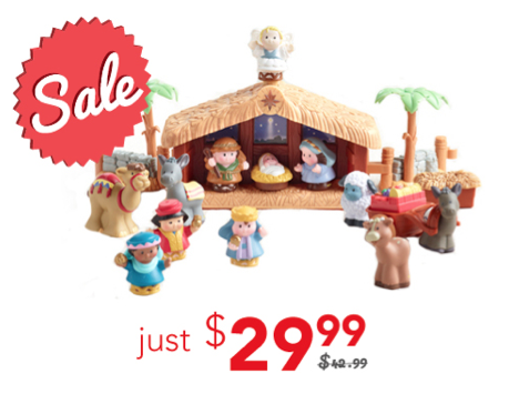Little People Nativity Set just $29.99!
