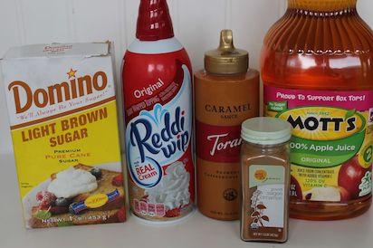 Starbucks Caramel Apple Spice Cider Ingredients 9-27
