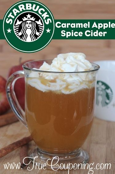 Starbucks Caramel Apple Spice Cider recipe 9-27