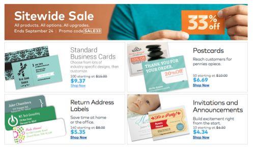 Vistaprint Sale ~ Save 33% Off Sitewide!