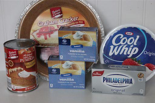 2 Layer No Bake Pumpkin Pie Ingredients 10-29