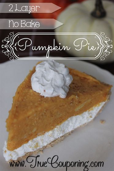 Yummy Pumpkin Pie for My Non-Bakers!