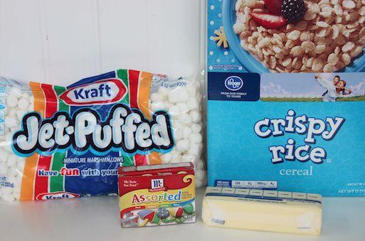 Candy Corn Krispy Treats Ingredients 10-1