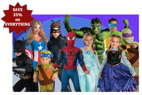 Flash Sale at Costume Express ~ Save 25% on Everything!