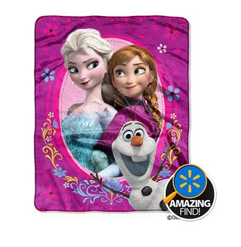 Disney Frozen Blanket Throw $9.96!