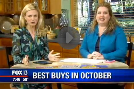 Fox 13 Savings Segment ~ Learn What to Buy in October (or NOT)!