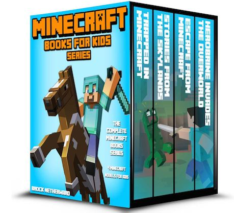 FREE Kindle Books Download:  4 Minecraft Books for Kids