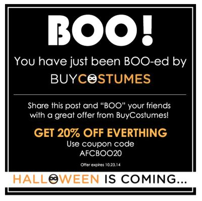 Save 20% on Halloween Costumes at BuyCostumes.com!