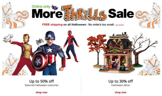 Kmart ~ Save 30%-50% on Halloween Costumes and Decor!