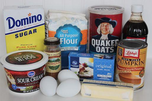 Pumpkin Cheesecake Bars Ingredients 10-1
