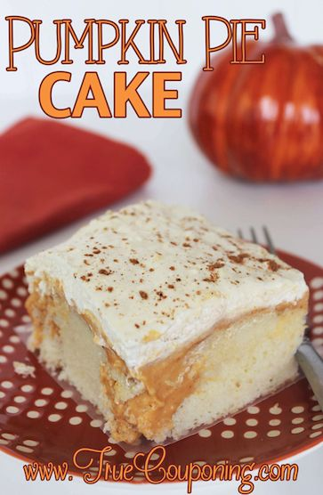 No Need for a Crust with Pumpkin Pie Cake!