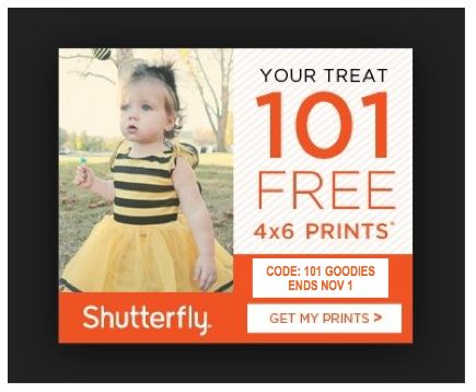 Shutterfly 101 FREE Prints for Everyone ~ Just Pay Shipping!