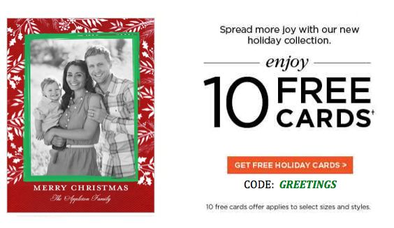 10 FREE Cards at Shutterfly Thru Monday!
