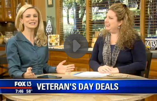 Fox 13 Savings Segment ~ Learn About Veteran's Day FREEbies!