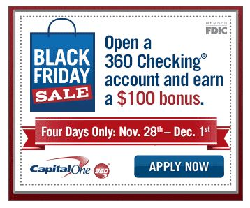 Open a Checking Account with Capital One 360 and Earn a $100 Bonus!